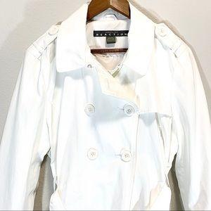 KC Reaction • White Trench Coat